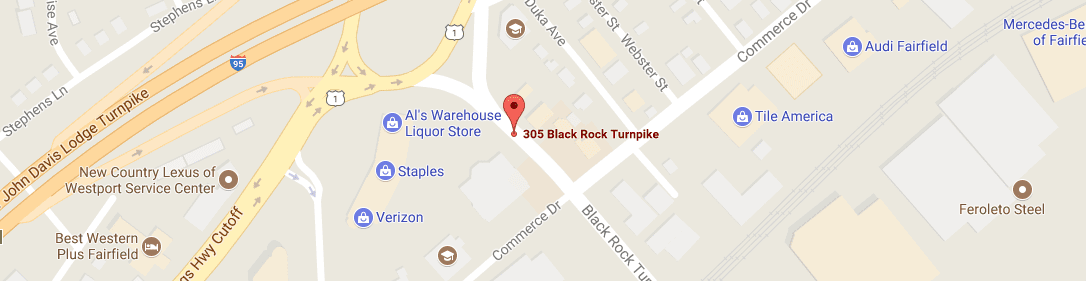 Map showing 305 Black Rock Turnpike Fairfield, CT 06825