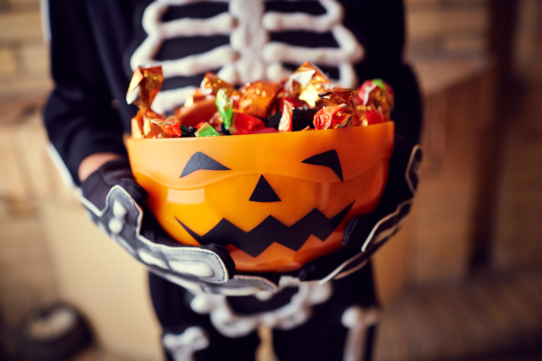 Skeleton and bones Halloween