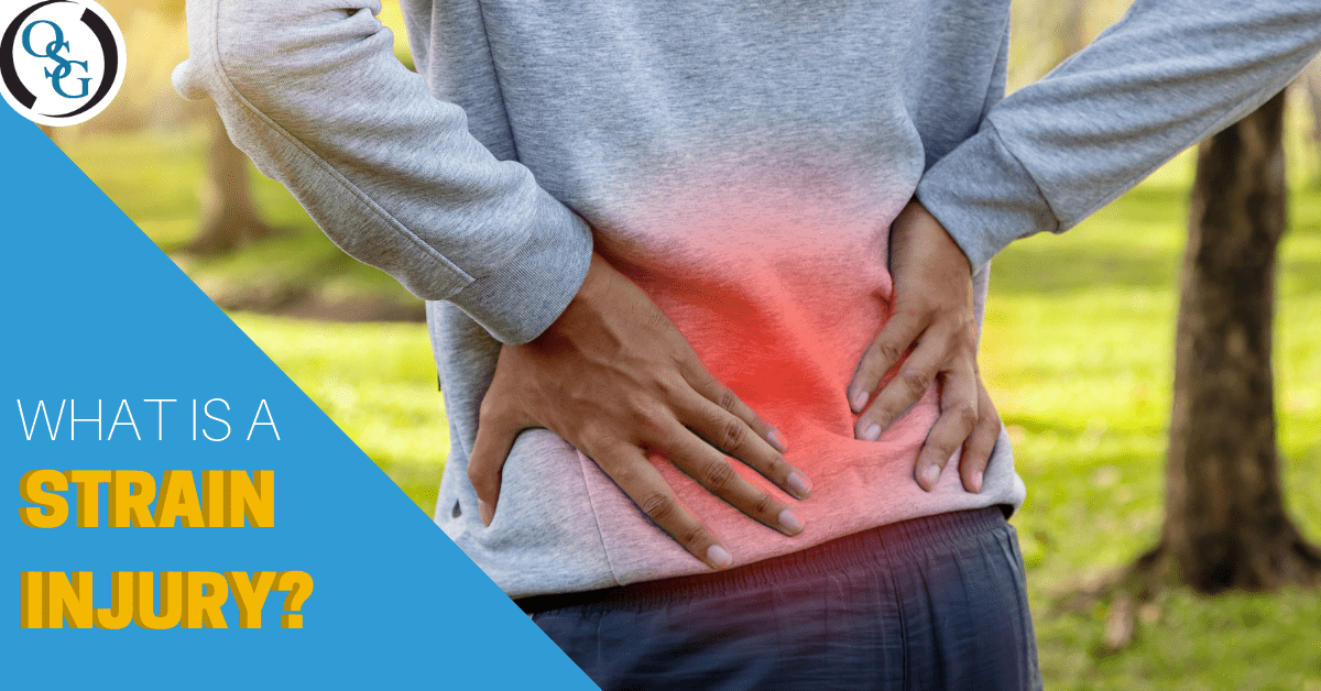 lower back pain from strain injury