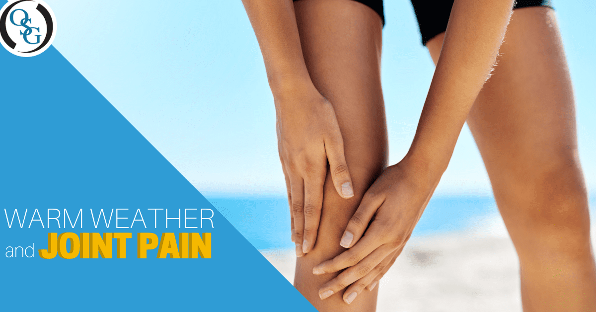 warm weather and joint pain