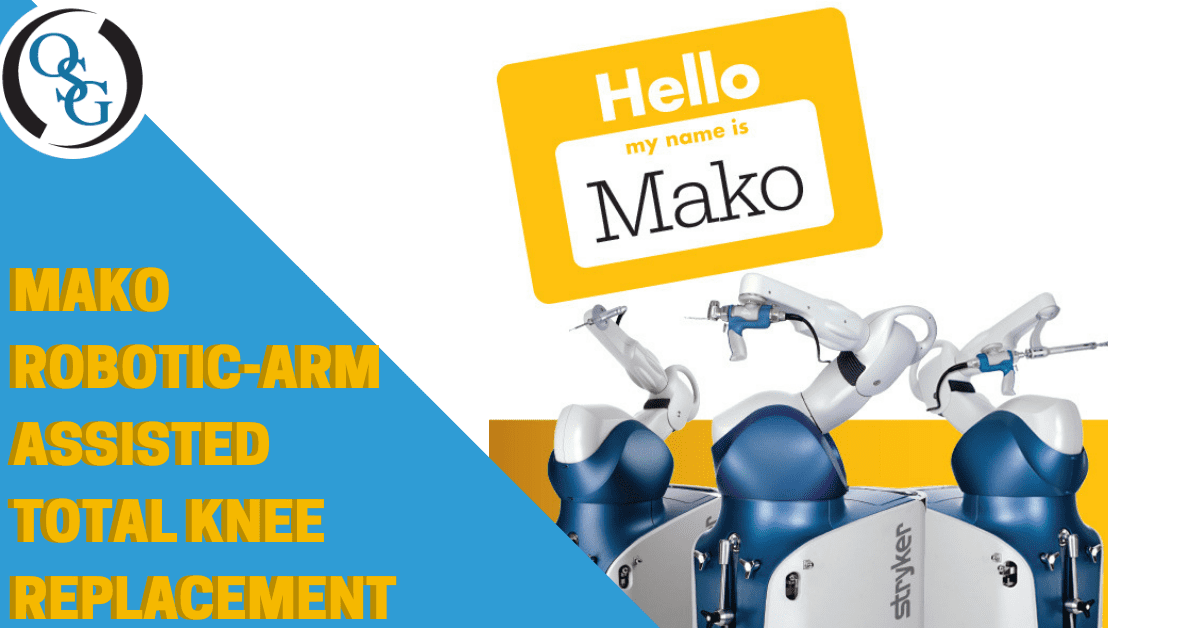 mako robotic arm used for total knee replacement surgery